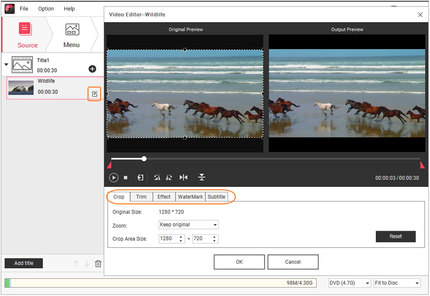 Edit Windows Movie Maker videos to DVD