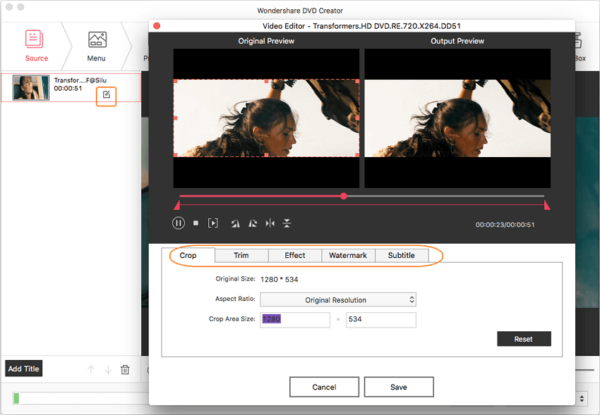 Edit videos burned to DVD on Mac
