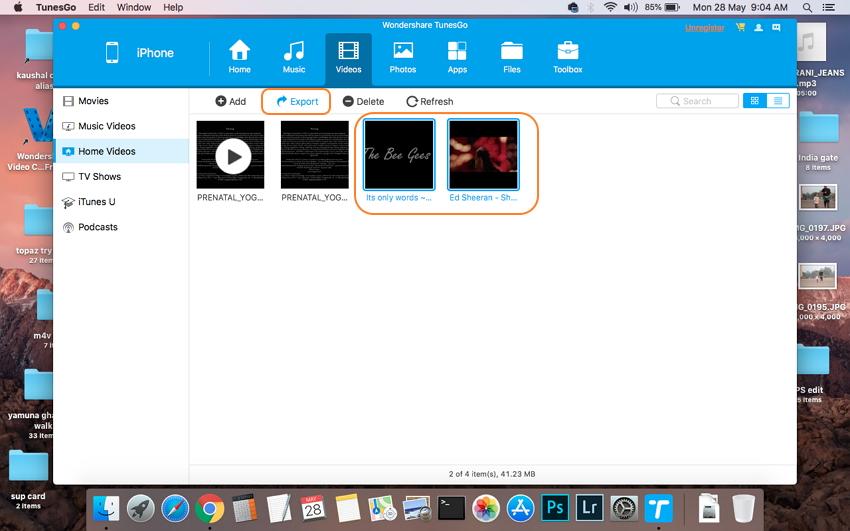 iPhone-Videos mit TunesGo auf den Mac übertragen