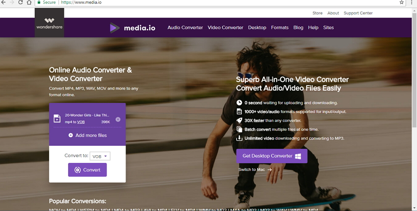 Convertir MP4 en DVD avec Media.io