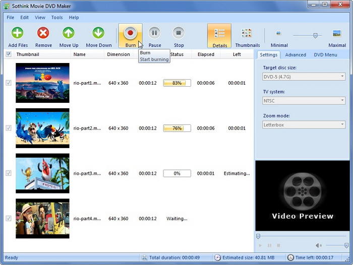 Criador de DVD Freeware - Sothink Free DVD Movie Maker