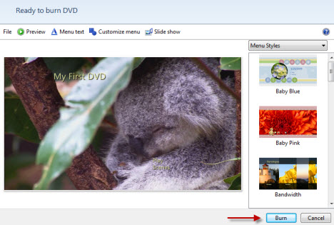 Video auf DVD mit Video DVD Maker